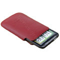 Imak Holster Leather sets Cases Covers for LG Optimus 3D P920 - Red