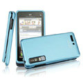 IMAK Slim Scrub Silicone hard cases Covers for Motorola Driod 3 XT883 - Blue