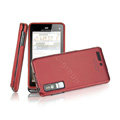 IMAK Slim Scrub Silicone hard cases Covers for Motorola Driod 3 XT883 - Red