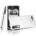 IMAK Slim Scrub Silicone hard cases Covers for Motorola Driod 3 XT883 - Silver