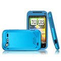 IMAK Slim Scrub Silicone hard cases Covers for HTC S710e Incredible S G11 - Blue