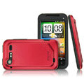 IMAK Slim Scrub Silicone hard cases Covers for HTC S710e Incredible S G11 - Red