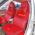 Fascinating Car Seat Covers Plush fabrics - Red