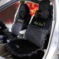 Fascinating Universal Car Seat Covers Plush fabrics - Black