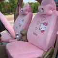 Hello Kitty Car Seat Covers Plush fabrics - Pink
