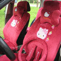 Hello Kitty Car Seat Covers Plush fabrics - Rose