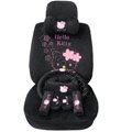 Hello Kitty OULILAI Car Seat Covers Plush fabrics - Black