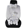 Hello Kitty OULILAI Car Seat Covers Plush fabrics - Gray EB002