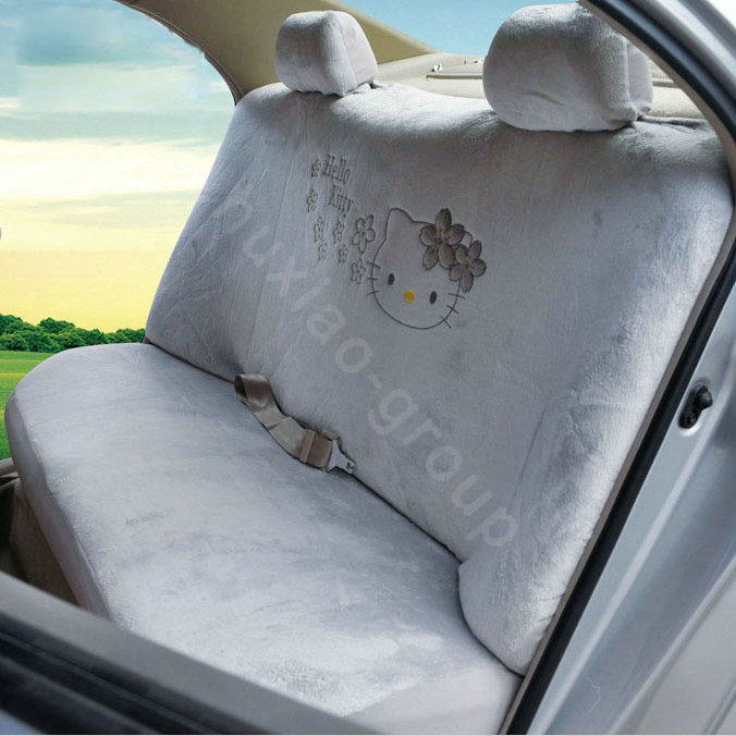 buy wholesale hello kitty oulilai car seat covers plush fabrics gray car seat covers. Black Bedroom Furniture Sets. Home Design Ideas
