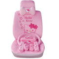 Hello Kitty OULILAI Car Seat Covers Plush fabrics - Pink EB002