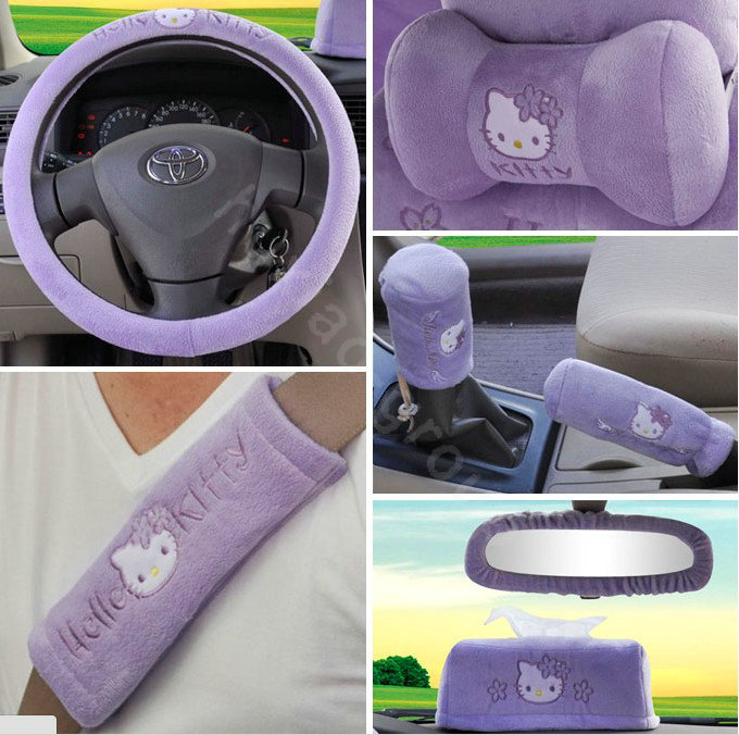 Buy wholesale hello kitty oulilai car seat covers plush - Hello kitty car interior accessories ...