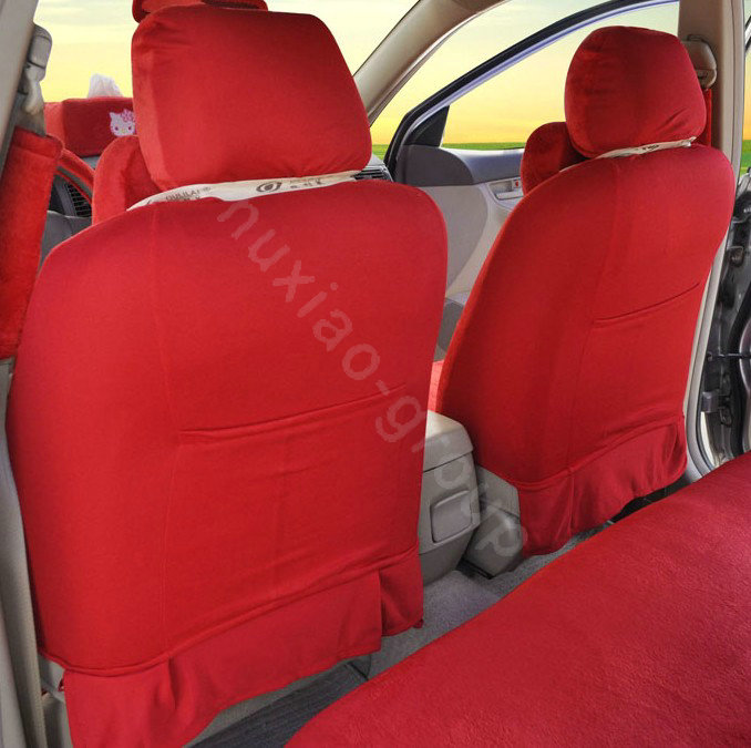 buy wholesale hello kitty oulilai car seat covers plush fabrics red eb001 car seat covers. Black Bedroom Furniture Sets. Home Design Ideas