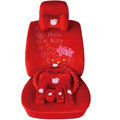 Hello Kitty OULILAI Car Seat Covers Plush fabrics - Red EB001