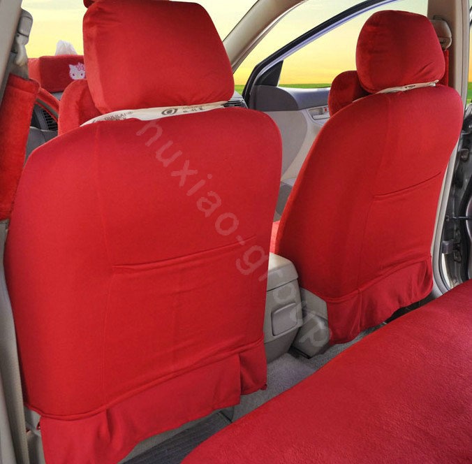 buy wholesale hello kitty oulilai car seat covers plush fabrics red car seat covers. Black Bedroom Furniture Sets. Home Design Ideas