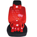 Hello Kitty OULILAI Car Seat Covers Plush fabrics - Red