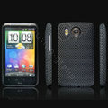 IMAK Slim Scrub Mesh Silicone Hard Cases Covers For HTC DHD Inspire 4G A9192 - Black