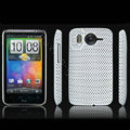 IMAK Slim Scrub Mesh Silicone Hard Cases Covers For HTC DHD Inspire 4G A9192 - White