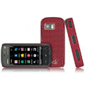 IMAK Slim Scrub Mesh Silicone Hard Cases Covers For Nokia 5230 5230XM 5233 5235 - Red