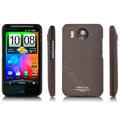 IMAK Slim Scrub Silicone hard cases Covers for HTC DHD Inspire 4G A9192 - Brown
