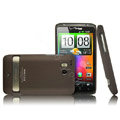 IMAK Slim Scrub Silicone hard cases Covers for HTC Thunderbolt 4G Incredible HD - Brown