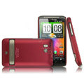 IMAK Slim Scrub Silicone hard cases Covers for HTC Thunderbolt 4G Incredible HD - Red
