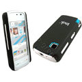 IMAK Slim Scrub Silicone hard cases Covers for Nokia 5230 5230XM 5233 5235 - Black(+Protector Screen)