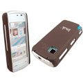 IMAK Slim Scrub Silicone hard cases Covers for Nokia 5230 5230XM 5233 5235 - Brown(+Protector Screen)