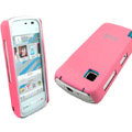 IMAK Slim Scrub Silicone hard cases Covers for Nokia 5230 5230XM 5233 5235 - Pink(+Protector Screen)