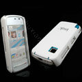 IMAK Slim Scrub Silicone hard cases Covers for Nokia 5230 5230XM 5233 5235 - White(+Protector Screen)