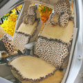 Leopard Fascinating Car Seat Covers Plush fabrics - Brown