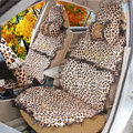 Leopard Fascinating Universal Car Seat Covers Plush fabrics - Brown