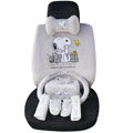 Snoopy OULILAI Car Seat Covers Plush fabrics - Gray