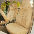Winnie the pooh Car Seat Covers Plush fabrics - Yellow