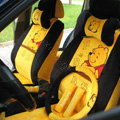 Winnie the pooh Universal Car Seat Covers Plush fabrics - Yellow