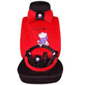 winnie the pooh Fascinating Car Seat Covers Plush fabrics - Red