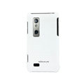 NILLKIN Matte Skin Silicone Cases Covers for LG Optimus 3D P920 - White(+Screen Protector)