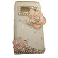 Bling Flowers Crystals Hard Plastic Cases Covers For Nokia N8 - Pink