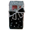 Bling bowknot Crystals Hard Cases Covers For Nokia N8 - Black