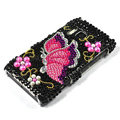 Bling butterfly Crystals Hard Cases Covers For Nokia N8 - Black