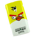 Angry bird Silicone Hard Cases Covers For Sony Ericsson X10i - Yellow EB001