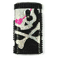 Bling Skull Crystals Hard Cases Covers For Sony Ericsson X10i - Black