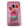 Bowknot Bling Crystals Hard Cases Covers For Sony Ericsson X10i - Pink
