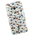 Hello kitty Silicone Hard Cases Covers For Sony Ericsson X10i - White