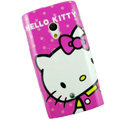 Hello kitty Silicone Hard Covers Cases For Sony Ericsson X10i - Rose