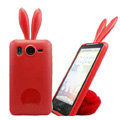 Rabbit Ears Silicone Case Covers For Sony Ericsson X10i - Red