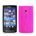 Slim Scrub Mesh Silicone Hard Cases Covers For Sony Ericsson X10i - Rose