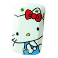 Hello kitty Silicone Hard Cases Covers For Blackberry Bold Touch 9900 - White