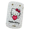 Hello kitty Silicone Hard Cases Skin For Blackberry Bold Touch 9900 - White