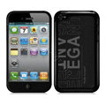 Slim Metal Aluminum Silicone Cases Covers for iPhone 5G - Black