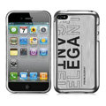 Slim Metal Aluminum Silicone Cases Covers for iPhone 5G - Silver